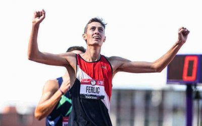 ESSI Research Engineer, Mason Ferlic: U-M grad student (steeple) chases his Olympic dream